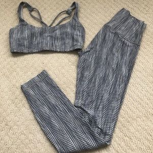 Lululemon arrow jacquard tuxedo FTB bra and WUP